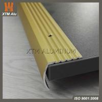 Buy cheap Aluminium Extrusion Stair Nosing Edge Trim Profile Matt Gold for Step Decoration & Safety from wholesalers