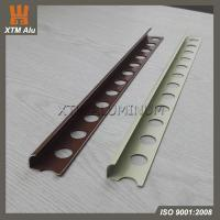 Buy cheap Aluminium Extrusion Tile Edge Trim Profile Round Series Powder Coating for Ceramic Tile Decoration from wholesalers