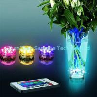 Buy cheap AAA Battery Operated Multi Color LED base lights for event wedding decoration from wholesalers