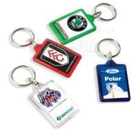 Buy cheap Rectangle Clear Plastic Keyrings Keychains from wholesalers