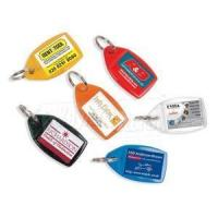 Buy cheap Plastic Keyrings Rectangle Clear Plastic Keyrings Keychains from wholesalers