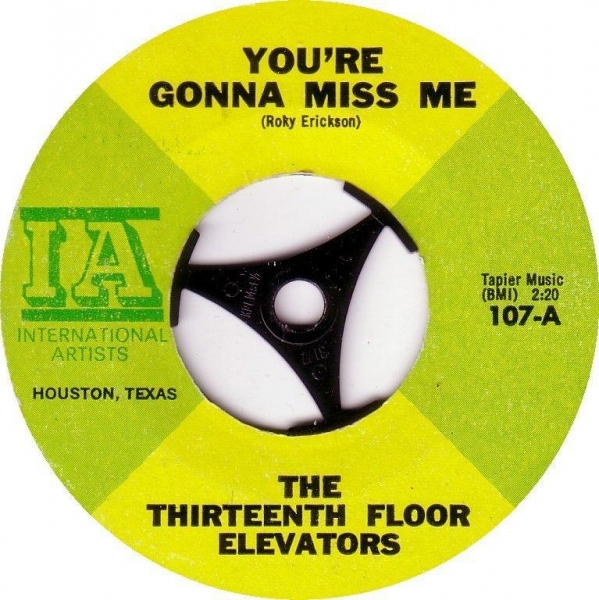 Buy cheap The 13th Floor Elevators You Re Gonna Miss Me from wholesalers