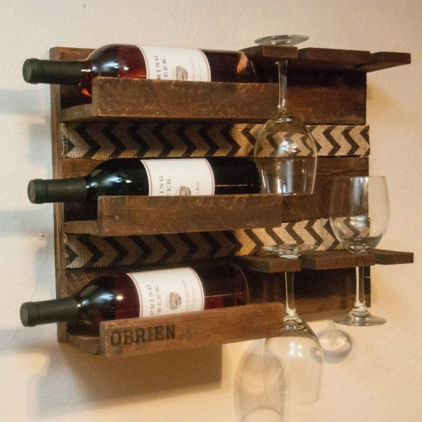 Quality Wooden Wall Wine Rack for sale