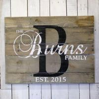 Buy cheap Wooden Last Name Signs product