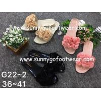 Buy cheap The hot sale fashion women ladies jelly slippers indoor outdoor slippers with flower from wholesalers