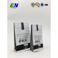 Buy cheap Flat Bottom Coffee Pouch with Front Zipper and Degassing Valve from wholesalers