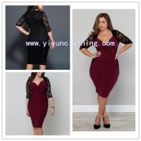Buy cheap Lace red lady fashion plus size clothing newest from wholesalers
