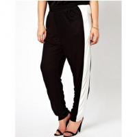 Buy cheap Black white stitching high elastic pencil pants from wholesalers