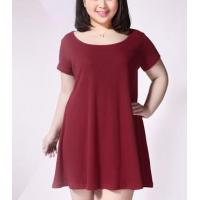 Buy cheap Plus size clothing $8 Plus size women cotton short-sleeved dress from wholesalers
