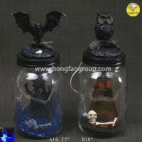 Buy cheap Halloween Light Up Decorative Glass Bottles from wholesalers