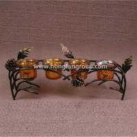Buy cheap Unique Metal Autumn Harvest Candle Holder from wholesalers