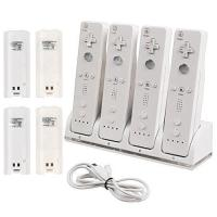 Buy cheap CommonByte Quad Charger Charging Dock Station + 4 Rechargeable Battery For Nintendo Wii from wholesalers
