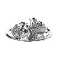 Buy cheap Silver Plated Tableware Silver Plate Robin Salt & Pepper from Wholesalers