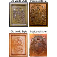 Buy cheap Coat of Arms Wood Carvings or Custom Carved Wood Plaques from wholesalers