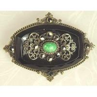 Buy cheap Unsi Lovely Antique Black Glass and Filigree Pin product