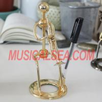 Buy cheap Miniature performer figurine pen holder for office decoratio Musical Instrument from wholesalers