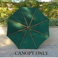 Buy cheap Canopies 9ft 8 ribs canopy green from wholesalers