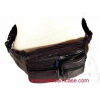 Buy cheap High Quality Black Sheep Skin Genuine Leather Waist Bag from wholesalers