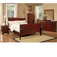 Buy cheap Louis Philippe Ii 5 Drawer Tall Boy Chest Bedroom Furniture from wholesalers