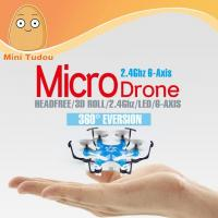 Buy cheap 2016 Minitudou Micro Drone 4CH 2.4G Headless RC Model Toy Helicopter With 6 Moto from wholesalers