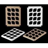Buy cheap Cupcake Boxes 1498 - 14 x 10 1 Dozen Standard Cupcake Insert, Reversible White/Brown from wholesalers