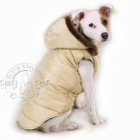 Buy cheap Dog toys Reversible Puffy Vest Style Dog Winter Coat with Detachable Hood from wholesalers