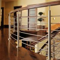 Buy cheap Interior design curved round post with PVC handrail stainless steel railing price PR-B141 from wholesalers
