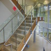 Buy cheap Tempered glass stair railing with stainless steel baluster from wholesalers