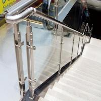 Buy cheap Interior glass stair stainless steel balustrade designs from wholesalers