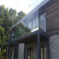 Buy cheap U channel glass railing/balustrade/guadrail Exterior frameless glass railing from wholesalers