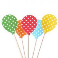 Buy cheap Balloon Cupcake Toppers - Party Picks Kids Birthday Party Kids Party Food Picks from wholesalers