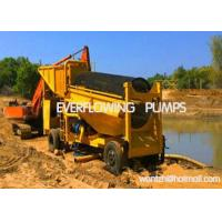 Buy cheap Gold mining machine Movable gold washing trommel screen from wholesalers