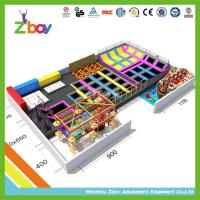 Buy cheap trampoline park Long Trampoline Running Way with Safety Net and Ladder from wholesalers