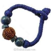 Buy cheap Saturn 7 Mukhi Lapis Lazuli Wrist band from wholesalers