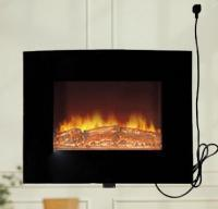 Buy cheap HomCom 02-0101 Smokeless Fireplaces 25 3/4 wide  20 1/2 high x 5 deep Black from wholesalers