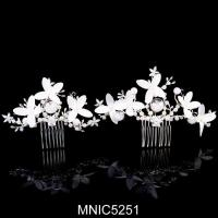 Buy cheap Beautiful Wedding Side Comb Bridal Side Hair Comb Flower Side Combs Bridal Hair Accessory from wholesalers