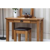 Buy cheap Uk rustic style 100% solid oak wood dresser and PU faux leather stool stools BDC-O010 from wholesalers