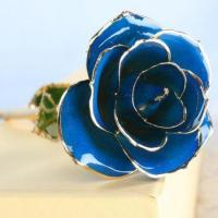 Buy cheap 24K Gold Foil Rose blue from wholesalers