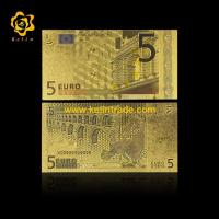 China Gift Money colored Euro 5 24K Gold Foil Banknote on sale