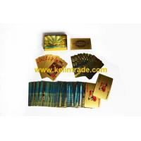 Buy cheap 24K Dubai burj al arab gold playing cards with gift box from wholesalers