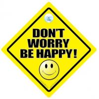 Buy cheap Don't Worry Be Happy Car Sign, Sign, Car Sign, Bumper Sticker, Decal, Baby On Board Sign from wholesalers