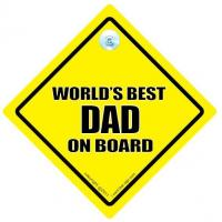 Buy cheap Worlds Best Dad On Board Car Sign from wholesalers