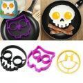 Breakfast Silicone Smile Skull Owl Fried Egg Mold