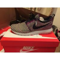Buy cheap NIKE FLYKNIT ROSHE RUN MENS SZ 10 PURPLE FUCHSIA GREEN WHITE OBSIDIAN 677243-400 from wholesalers