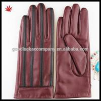 Buy cheap 2016 Red women sheepskin shell acrylic lining leather gloves factory price from wholesalers
