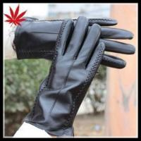 Buy cheap Sexy women wearing genuine sheepskin leather gloves from wholesalers