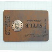 Buy cheap Leather Labels Custom Leather Labels With Metal Logo Plates China Supplier from wholesalers