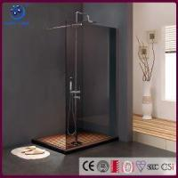 Buy cheap Frameless Walk in Shower Enclosure, Single Panel Bathroom Shower Stall,Grey Glass ,33 X76, Chrome from wholesalers