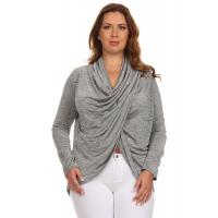 Buy cheap Jaipur Long Sleeve Surplice Top - SILVER from wholesalers