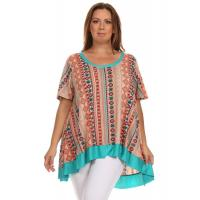 Buy cheap Desere Plus-Size Women's Scoop Neck Tunic - Turquoise Aztec from wholesalers